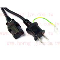 Power Cord / Japan  2PIN & Ground Wire